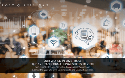 Frost & Sullivan Experts Unveil Our World in 2030: Top 12 Transformational Shifts