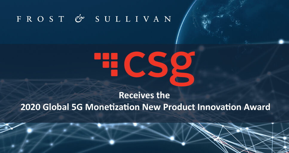 CSG Applauded by Frost & Sullivan for its Next-generation Standards-based Products for 5G Monetization