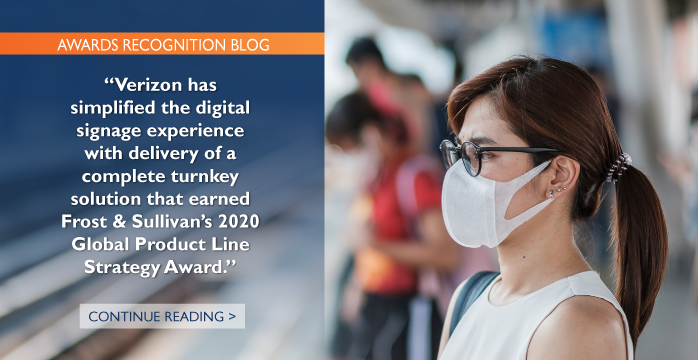 Verizon Leads the Digital Signage Market through the COVID-19 Pandemic