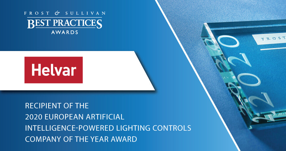 Helvar Commended by Frost & Sullivan for Leading the AI-powered Lighting Controls Market with Its ActiveAhead Solution