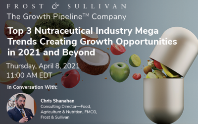 Frost & Sullivan Explores the Top 3 Mega Trends Shaping Growth in the Nutraceuticals Industry for 2021 and Beyond
