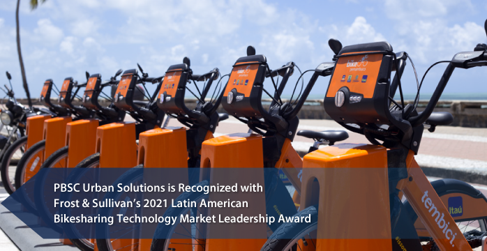 PBSC Urban Solutions Applauded by Frost & Sullivan for Leading the Public Bikesharing Systems Market in LATAM