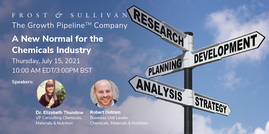 Frost & Sullivan Explores Top Five Post-pandemic Strategies for Recovery in the Chemicals Industry