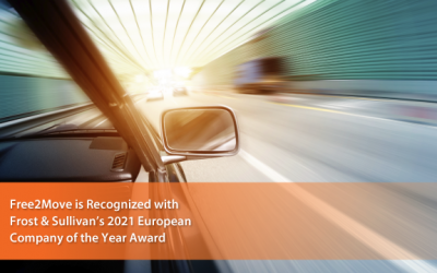 Free2Move Lauded by Frost & Sullivan as OEM New Mobility Marketplace Company of the Year